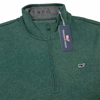 Vineyard Vines Saltwater Quarter Zip Pullover Sweater Green M, L, XL $98