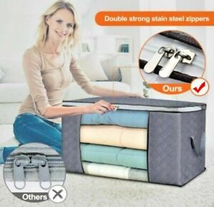 Large Waterproof Breathable Storage Bag Box Clothes Quilt Duvet Laundry Zipped