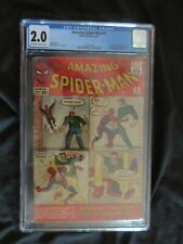 The Amazing Spider-Man #4 CGC 2.0 Marvel Comic 1963 1st Sandman!