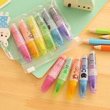 6Pcs/set Stationery Pen Supplies Graffiti Writing Marker Face School Office