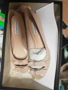 Annapelle bnib sz 6.5 leather kitten heel shoes