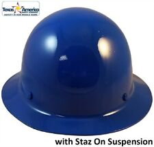 Msa Skullgard Full Brim Hard Hat With Staz On Suspension Blue
