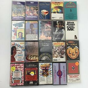 20 Cassette Tape Lot Pop Rock & Roll Oldies Various Dance Comedy Halloween