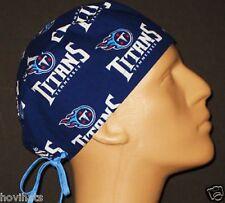 TENNESSEE TITANS DARK BLUE SCRUB HAT / NFL / FREE CUSTOM SIZING!