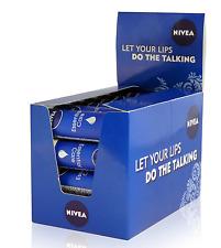 24x NIVEA Lip Care essenziale ORIGINALE SCATOLA contatore olio di jojoba e burro di karité 4.8 G