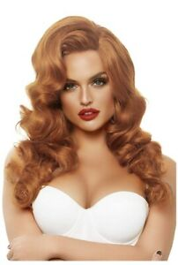 Bombshell Long Curly Adult Wig - Ginger Red Leg Avenue