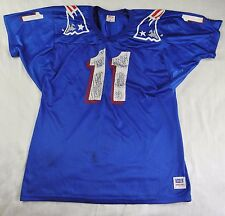 WILSON DREW BLEDSOE #11 NEW ENGLAND PATRIOTS NFL MENS JERSEY MADE in USA Size L