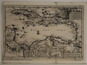 WEST INDIES PANAMA COSTA RICA ANTILLES COLOMBIA 1706 VAN DER AA ANTIQUEMAP