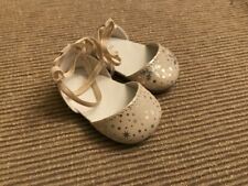 """American Girl gold snowlfake holiday dress shoes NEW for 18"""" doll"""
