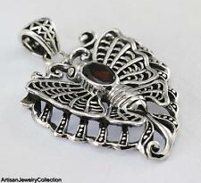GARNET BALI BUTTERFLY PENDANT 925 SILVER ARTISAN JEWELRY COLLECTION T156