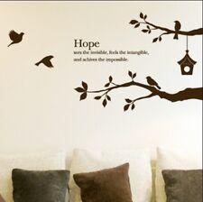 Branch Birds Cage Words Vinyl Wall Paper Decal Art Sticker T74