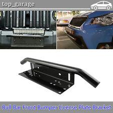 23'' Bull Bar Front Bumper License Plate Mount Bracket Holder Offroad LED Light