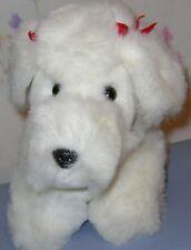 """Target Dayton Hudson White Poodle Dog Red Bows Plush 7"""" Korea"""