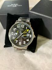 ONISS  Black Dial Stainless Steel Men's Watch