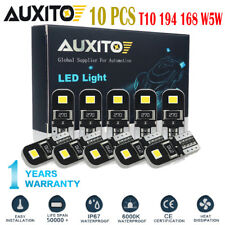 10X AUXITO Canbus T10 194 168 W5W 2825 LED White Car Side Wedge Light Bulb EOA