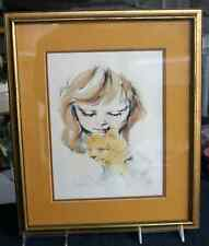 Hyacinth Kuller hand painted lithograph, 192 of 200, PRICE REDUCED