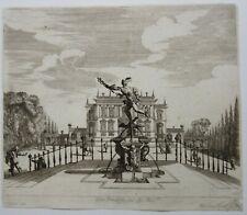 Melchior KUSELL d'après BAUR, jardin, fontaine, statue de Mercure, Italie, XVIIe