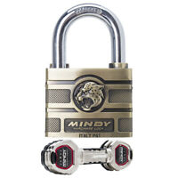 60mm MINDY Lock High Security Padlock 4 Keys Solid Alloy Anti-cut Outdoor Safety