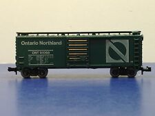 """N Scale """"Ontario Northland"""" ONT 91068 40' Freight Train Box Car"""