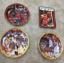 Michael Jordan Collectors Plates The Last Shot Heart of a Champ 91 Champ 82 Ncaa