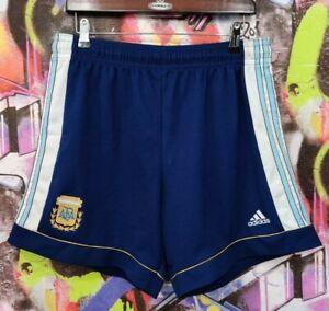 Argentina Soccer National Team AFA Football Soccer Shorts Vintage Adidas Mens M