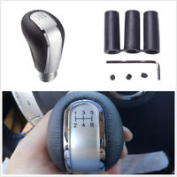 Durable 5 Speed Leather Manual Car Gear Shift Knob Shifter Stick Universal Lever