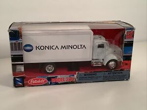New-Ray Toys Diecast Peterbilt 335 Flatbed Delivery Truck 1:43 Konica Minolta