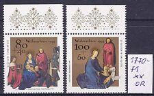 Bund: Weihnachten , Mi. Nr. 1770-71  sauber postfrisch