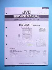 instrucciones Manual de servicio para JVC MX-D351 TR,ORIGINAL