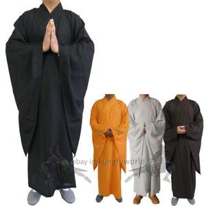 Men's Women's Shaolin Buddhist Monk Dress Meditation Haiqing Robe Kung fu Suit