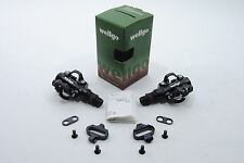 WELLGO M094B MTB BIKE CLIPLESS PEDALS SHIMANO SPD COMPATIBLE Cleat 98A BLACK