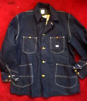 NEW NOS NWT Vtg 50s Lee 91-J 44 Sanforized Barn Chore Denim Indigo Work Jacket