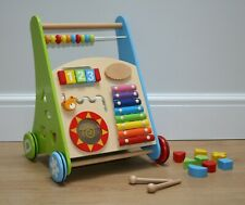 Wooden Baby Walker With Activity Center and Bricks