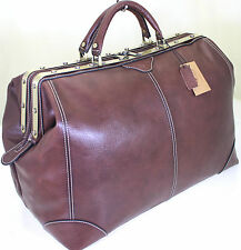 XL Real Italian Leather Holdall Weekend Duffel Weekend Cabin Travel Bag Case UK