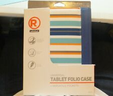 """Blue Universal Folio Stand Case Cover For 7"""" to 8"""" Inch Tablet eReader Device"""