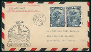 MayfairStamps Canada First Flight Cover 1935 Pickle Crow Ontario to Collins Avia