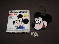 New listing Vintage Walt Disney Mickey Mouse Transistor Radio In Box