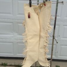 Adult XL Sand synthetic suede Western show /equitation chaps Tough 1