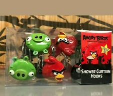 new set 12 p 00004000 ieces - Angry Birds Shower Curtain Hooks