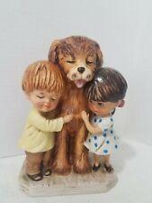 Vintage 1973 Moppets Fran Mar Gorham Figurine Dog Best Friends