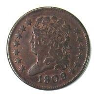 1809 Classic Head Half Cent 1/2¢ Very Fine
