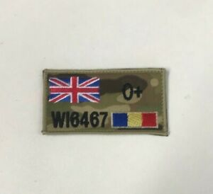 REME MTP Colour Union Jack Zap & Blood Group Badge Army Military Patch Hook Loop