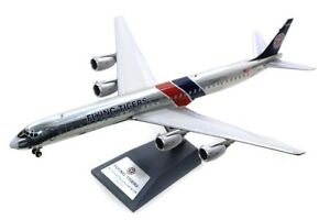 DC-8, FLYING TIGERS REG: N4865T POLISHED W/STAND INFLIGHT 200 IF873FT1219P 1/200