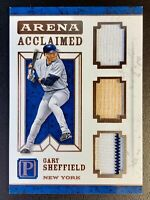 2016 Panini Pantheon GARY SHEFFIELD Triple Jersey Patch Bat Relic SP /49