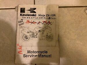 Kawasaki Ninja ZX12R ZX-12R 2002-2004 Genuine Service Manual