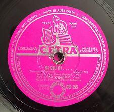 """RARE 78 RPM 10"""" CETRA STAMPA AUSTRALIANA ANTONIO VASQUEZ CI CIU CI/TULLIO PANE"""