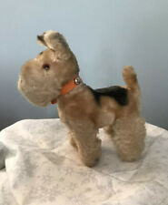 Vtg Stuffed Terrier Dog Toy Japan