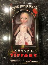 LIVING DEAD DOLLS PRESENTS BRIDE OF CHUCKY VARIANT BLOODY TIFFANY FREE SHIPPING