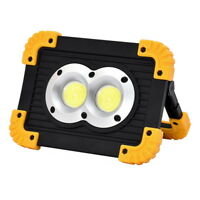 20W 1000lm COB 2LED Work Light Waterproof USB Rechargeable Flood Lamp Power Bank
