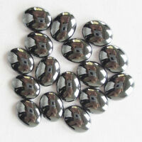 J0055785 20Pcs Beautiful 10x8mm Hematite Oval CAB CABOCHON